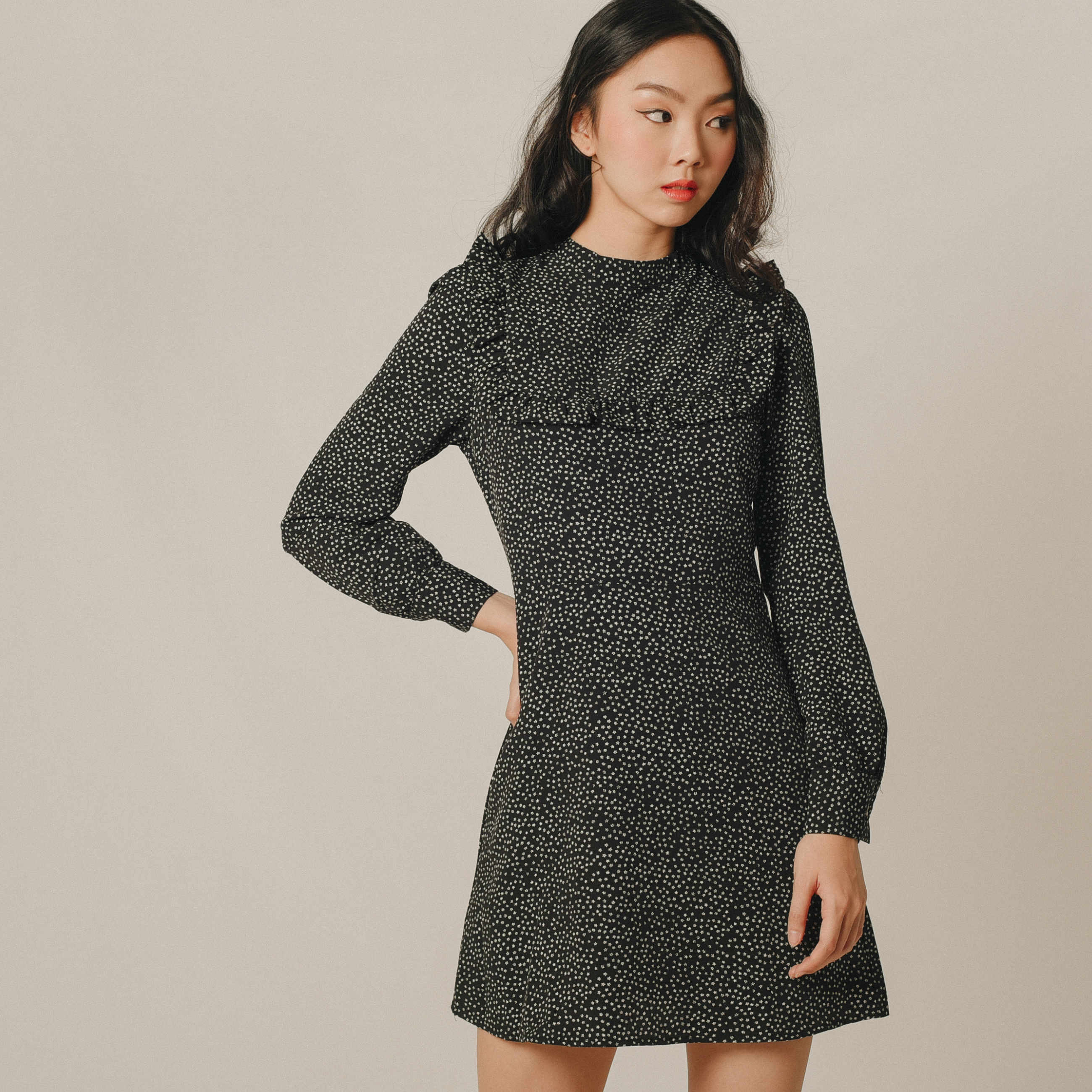 Mychelle High-Neck Dress
