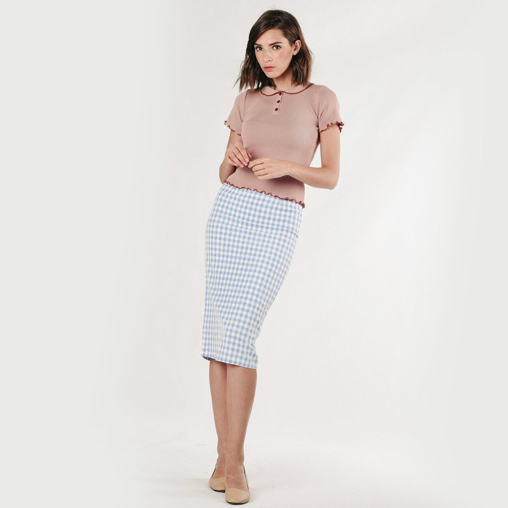 Catherine Knit Top - Dusty Pink