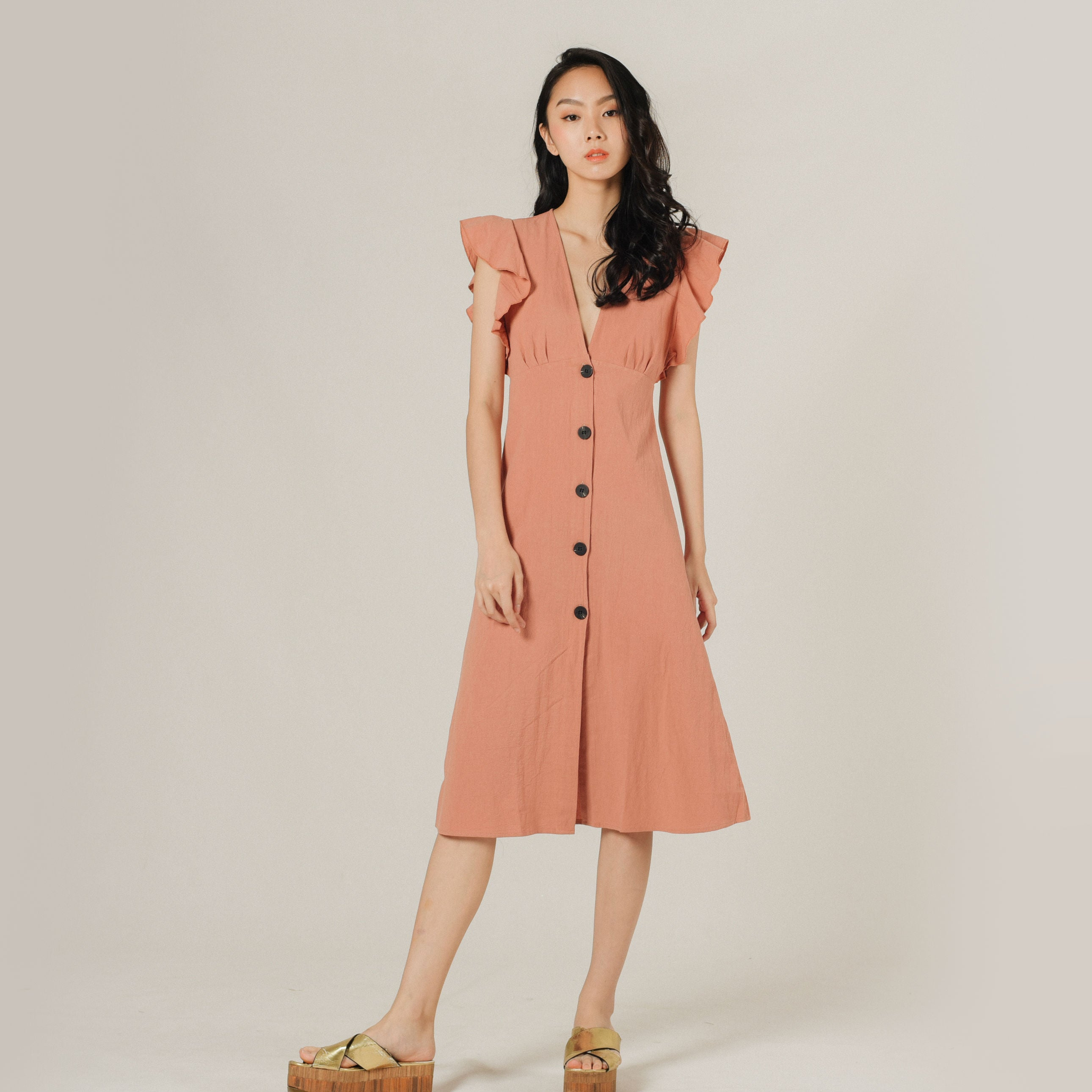 Therrie Buttoned Dress