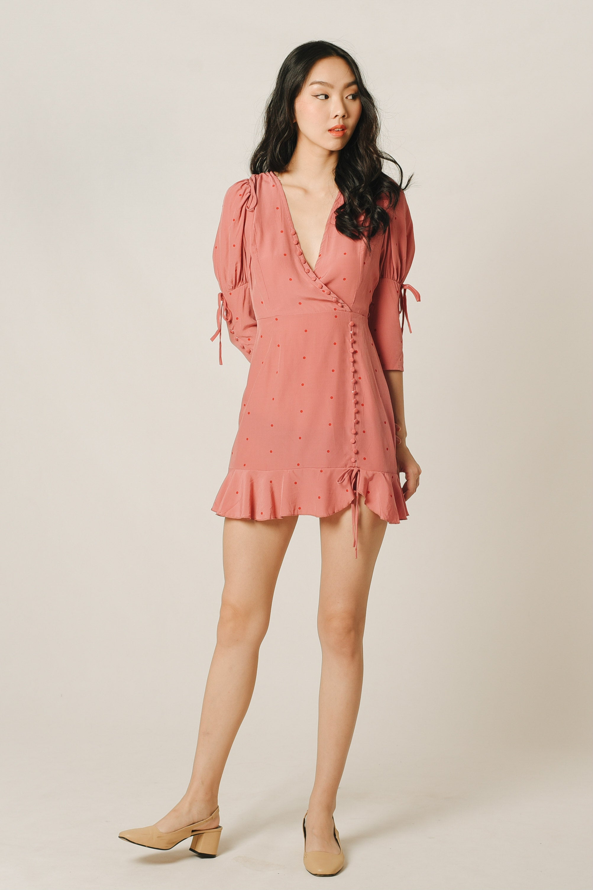 Eunie Ruffle Button Dress