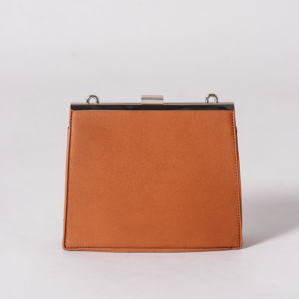 Ellena Clasp Bag - Brown