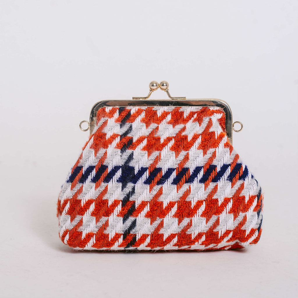 Candice Houndstooth Bag - Red