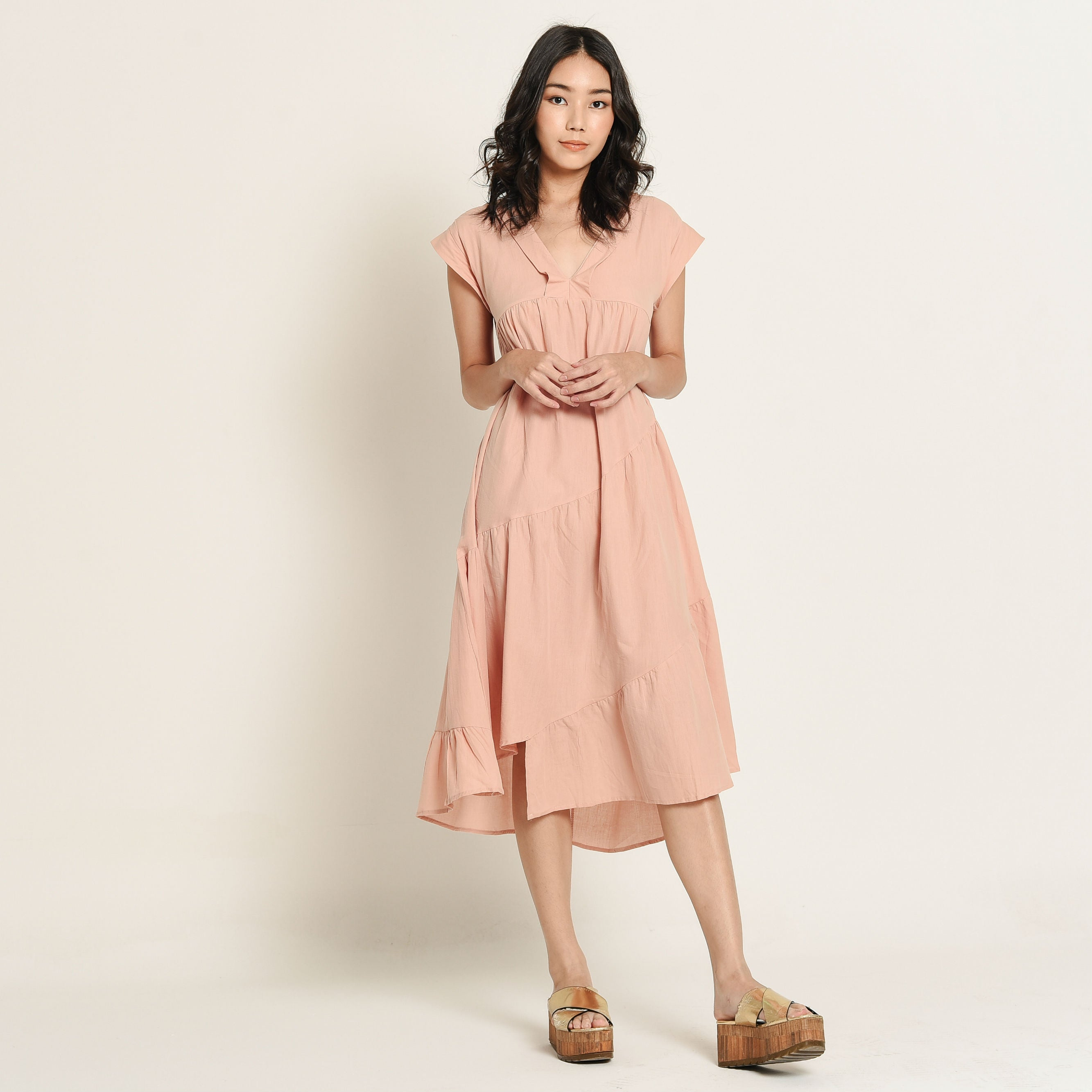 Tina Blush Peach Dress
