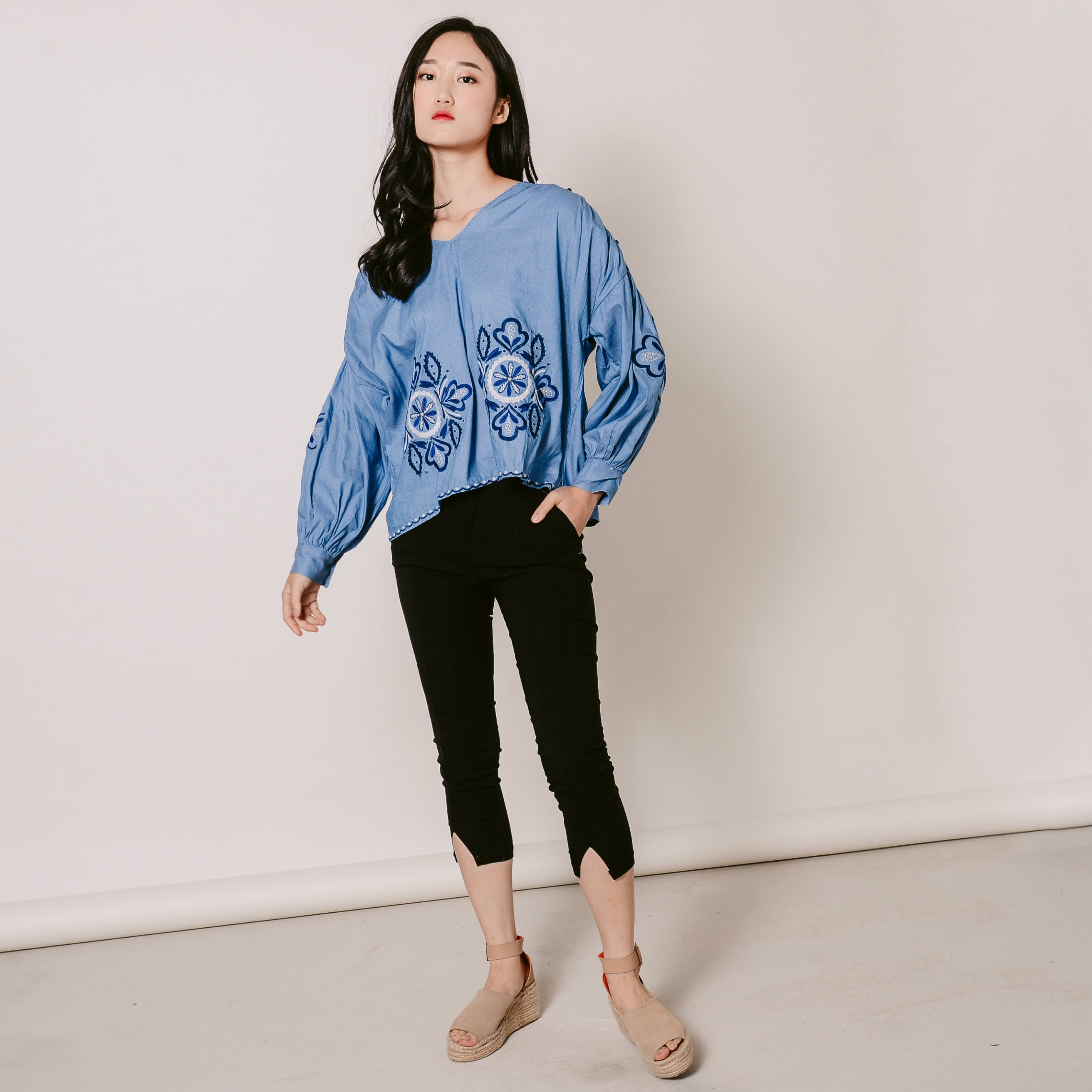 Kaelyn Embroidered Top