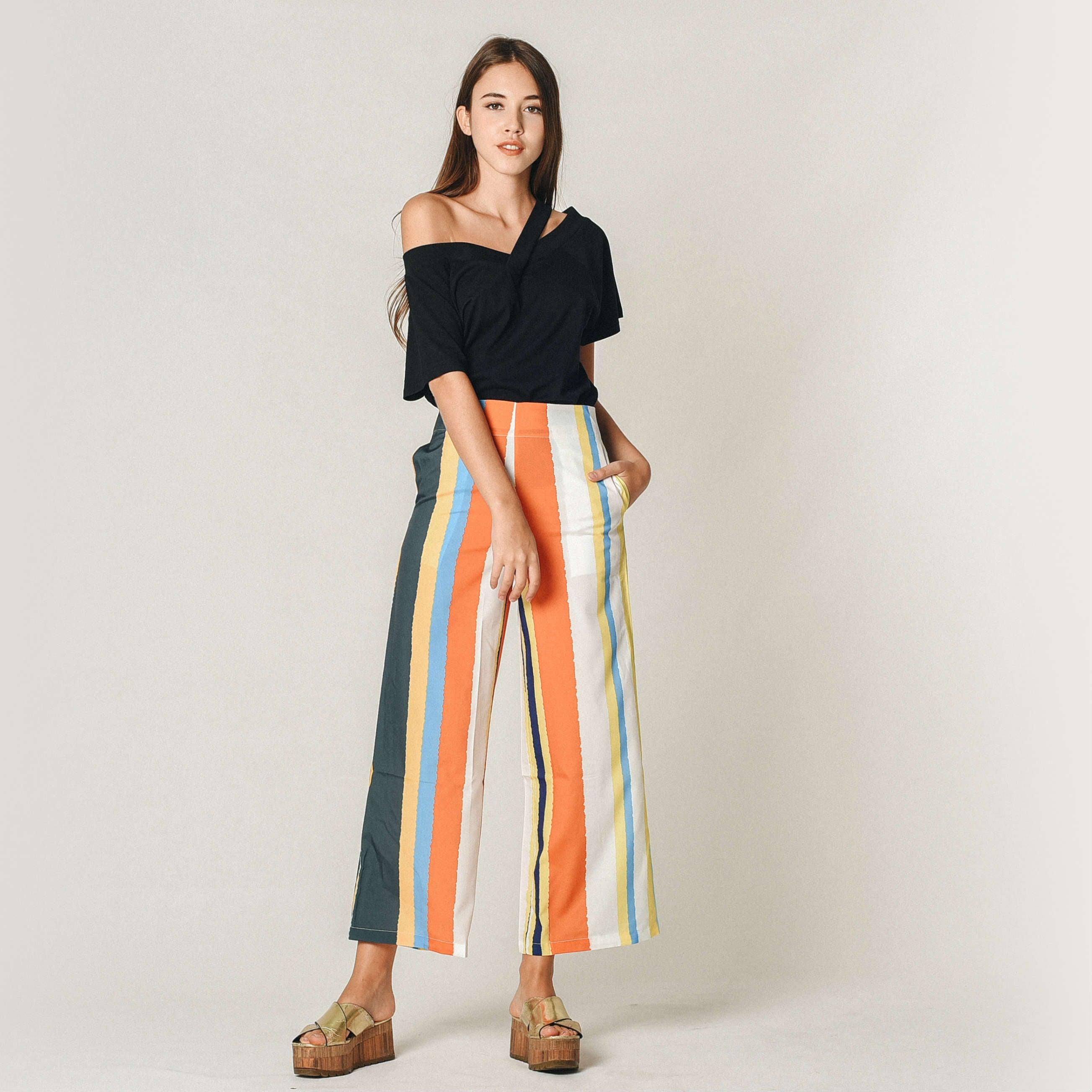 Sandrea Striped Pants