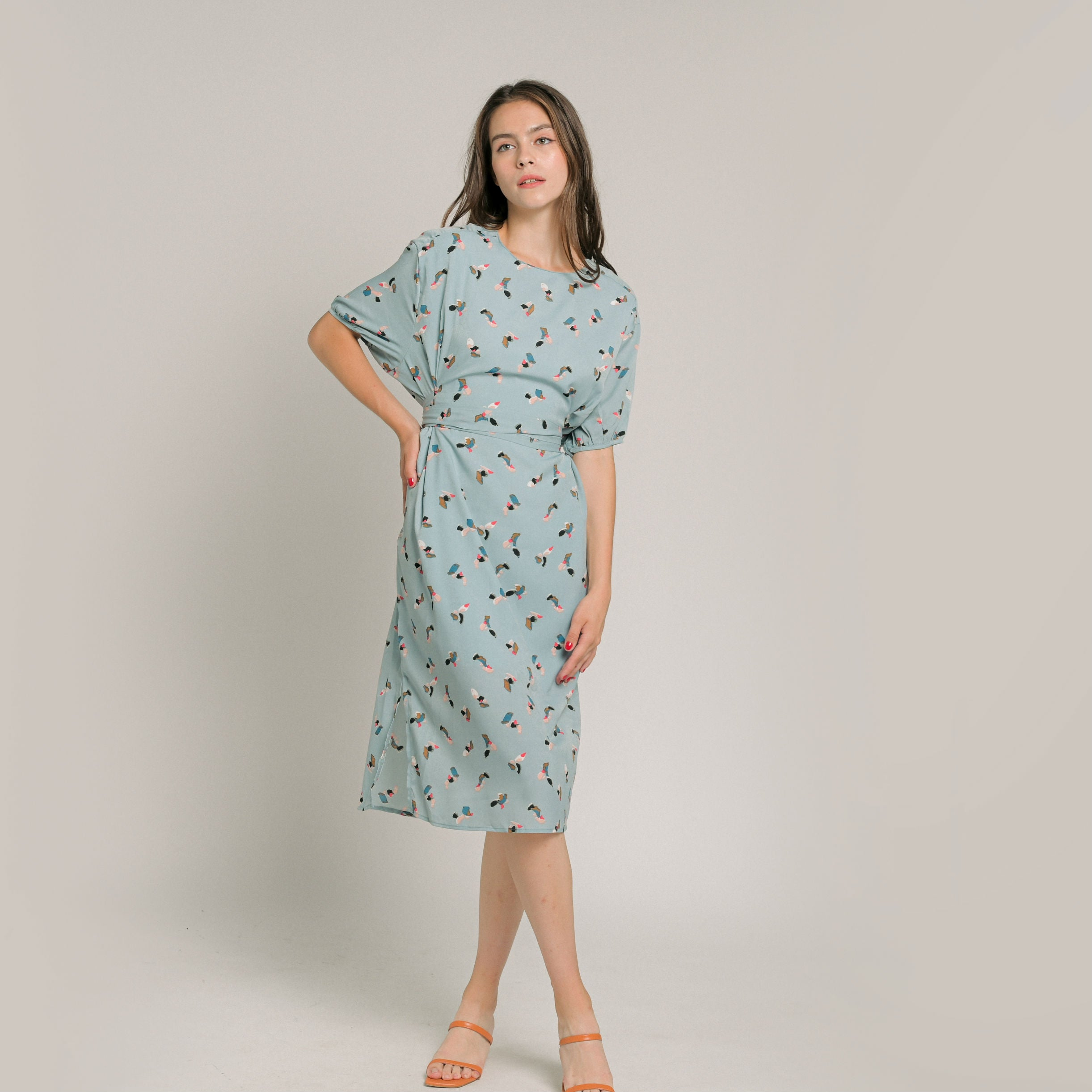 Imelda Print Tie Dress