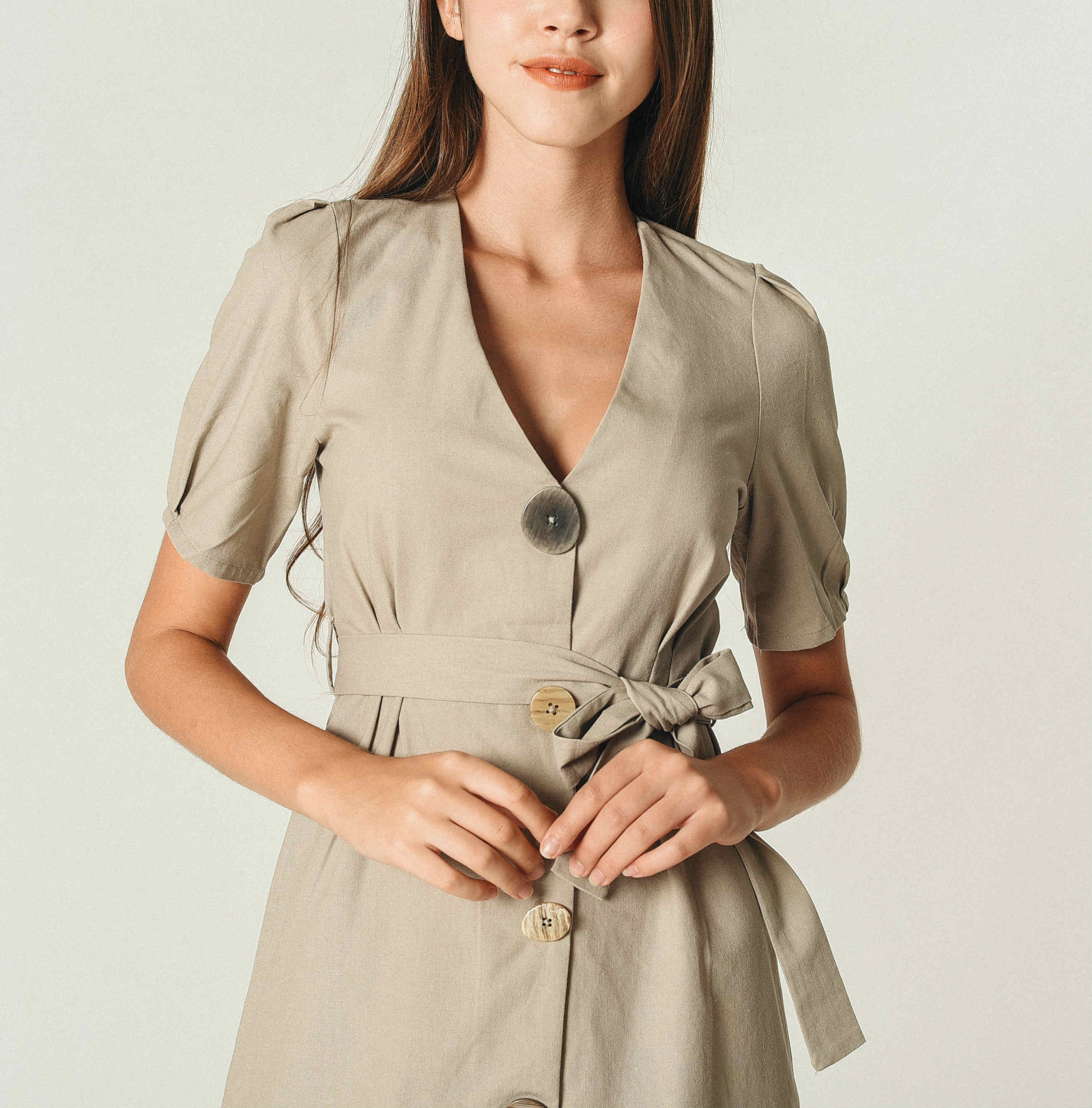 Zina Buttoned Dress