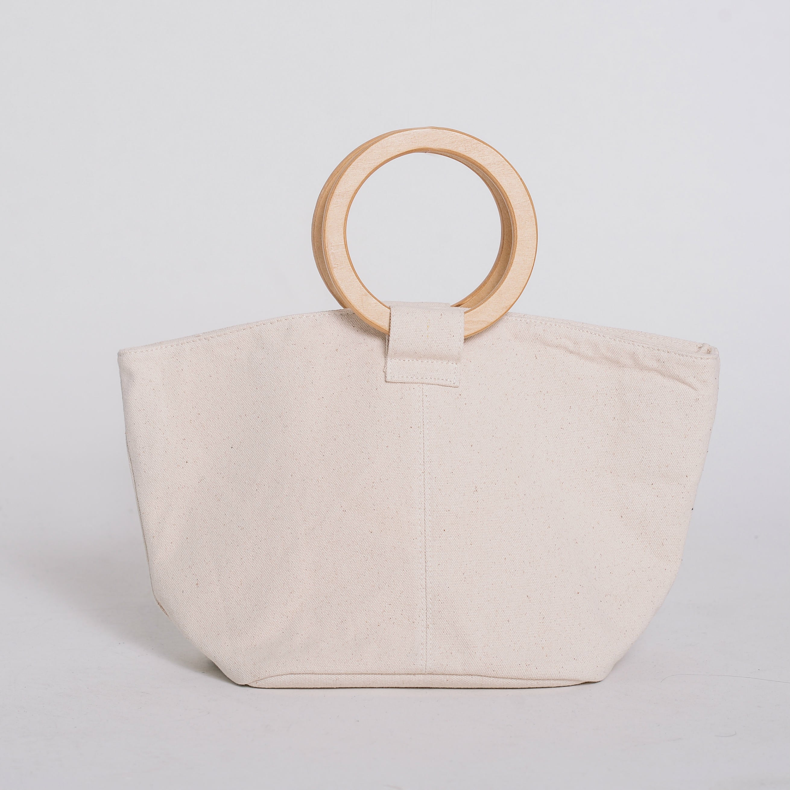 Danielle Fabric Wood Bag
