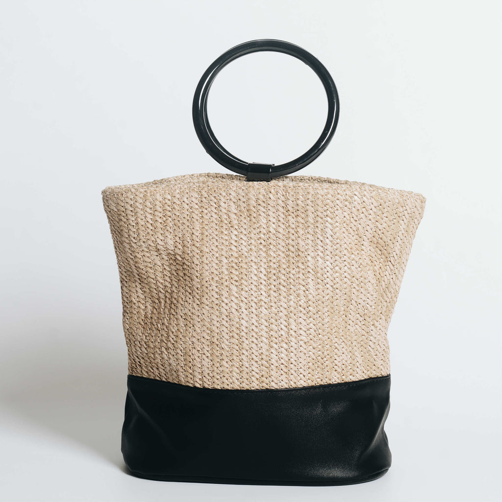 Feli Rattan Ring Bag