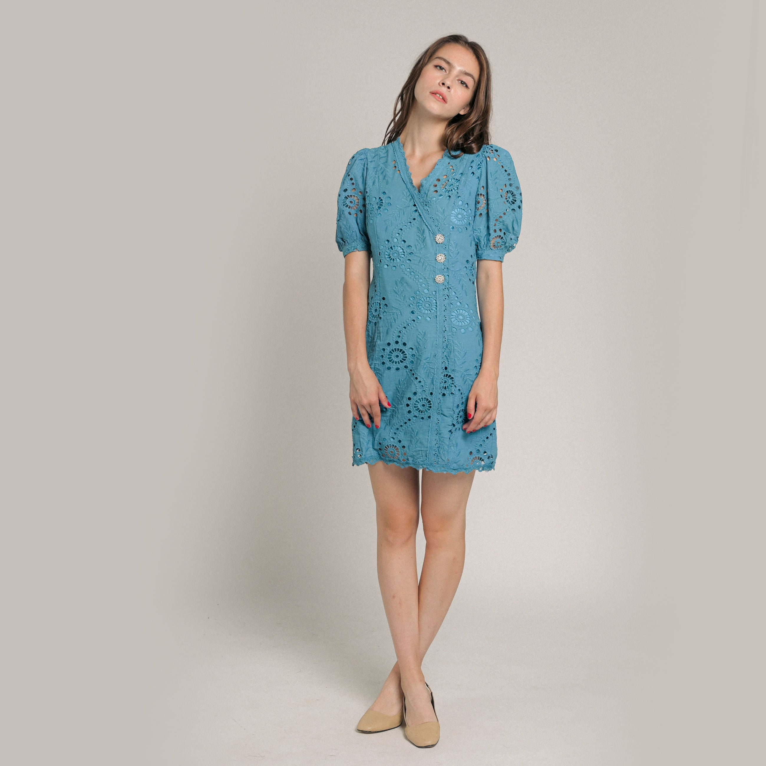 Leesa Embroidered Dress