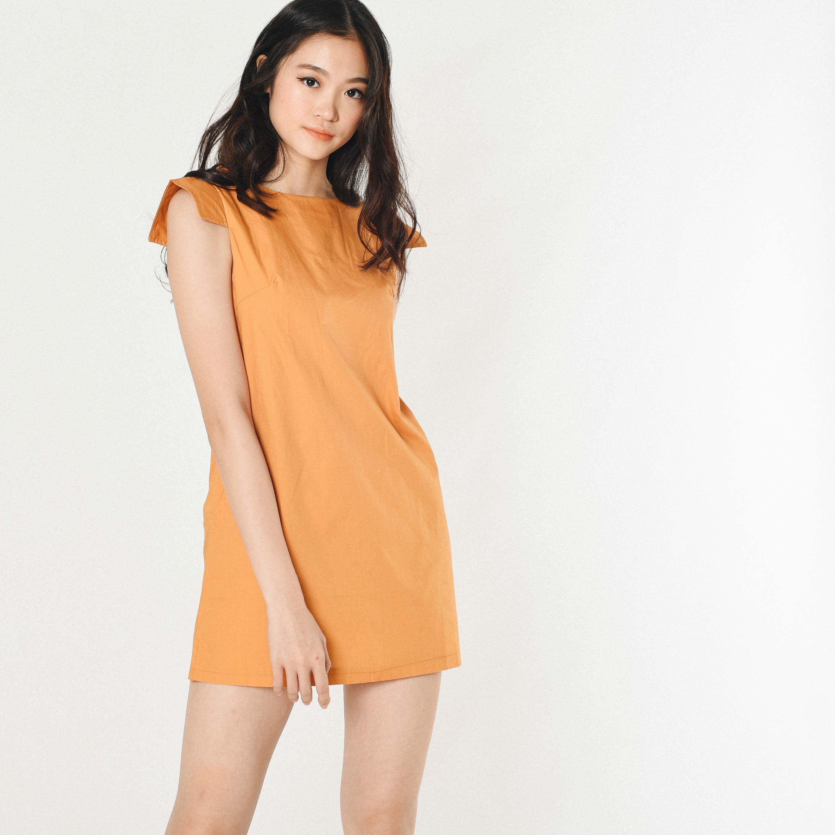 Pansy Structured Dress - Mustard