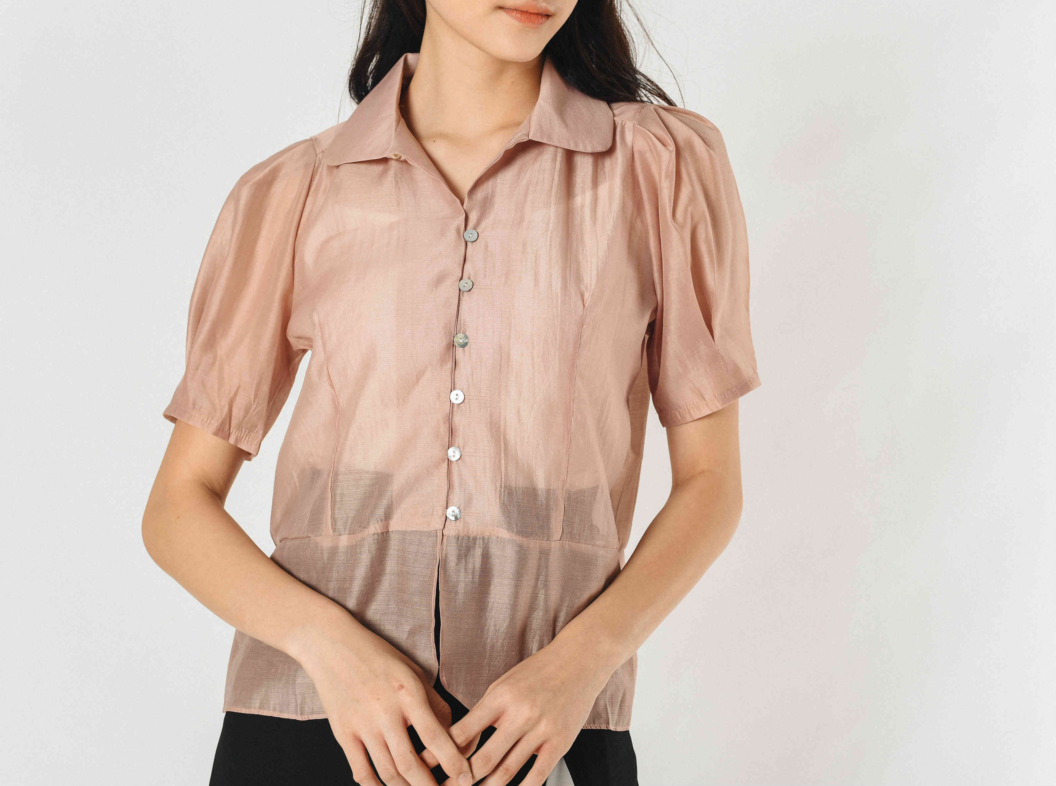 Leanne Sheer Top - Dusty Pink