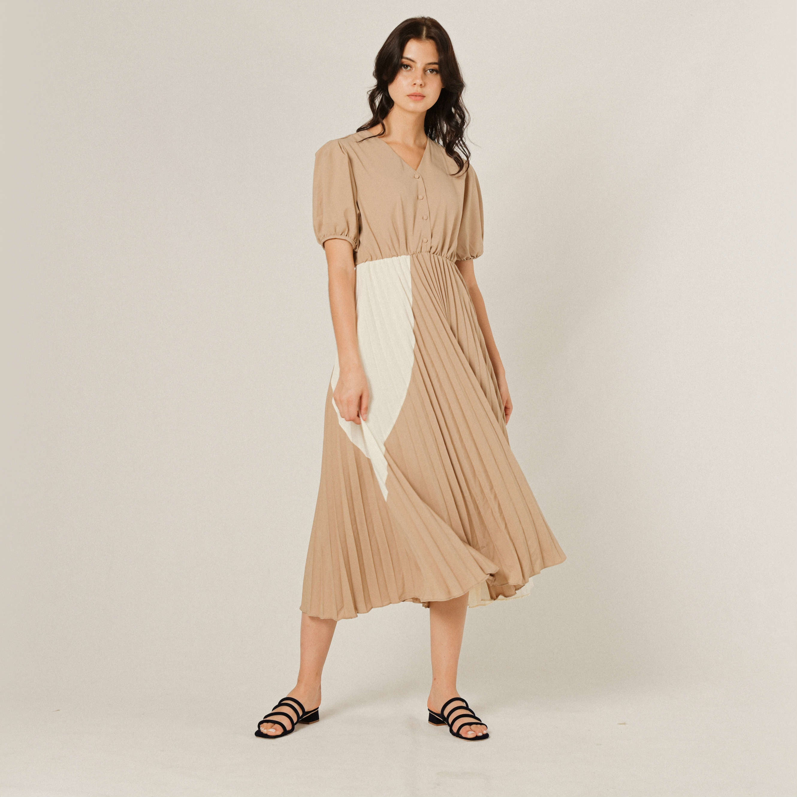 Aurelia Pleated Dress
