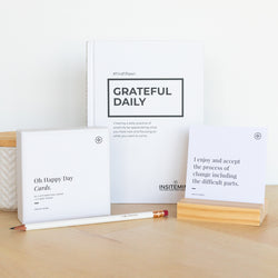 Oh Happy Gratitude and Affirmation Pack - Gratitude Journal and Affirmation Cards