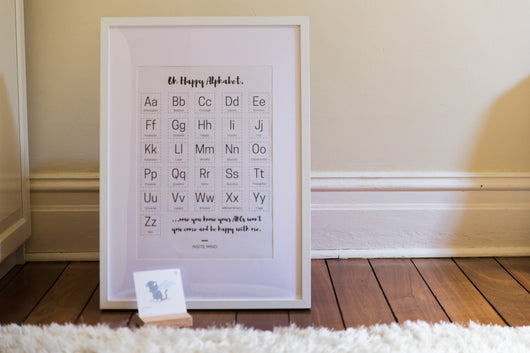 Oh Happy ABCs - A3 Framed Print
