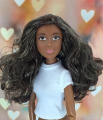 Dark Skin-Brown Eyes-Brown-Long-Wavy Hair