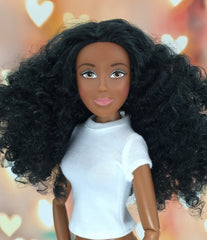 Dark Skin-Brown Eyes-Black-Long-Curly Hair