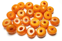 2 Beads - Tibetan Amber Copal Resin Beads - Ethnic Tribal Amber Copal Beads - A12