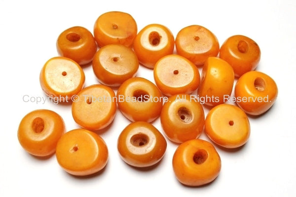 4 Beads - Tibetan Amber Copal Resin Beads - Ethnic Tribal Amber Copal Beads - A10-4