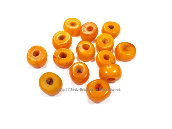 4 Beads - Tibetan Amber Copal Resin Beads - Ethnic Tribal Amber Copal Beads - A3252-4