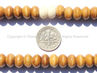 108 beads - 9mm Tibetan Bone Mala Prayer Beads - 9mm Size Bone Tibetan Mala Beads - Mala Making Supplies - PB114