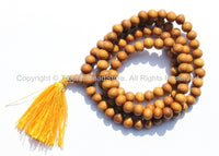 108 beads - Tibetan Natural Sandalwood Mala Prayer Beads - 8mm - Tibetan Mala Beads - Mala Making Supplies - PB98S