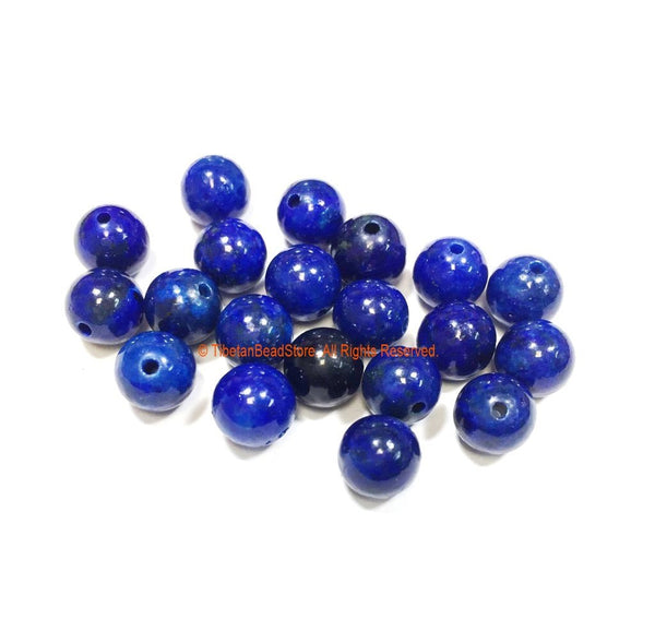 20 BEADS 8mm Natural Lapis Lazuli Beads - Round Lapis Beads - Natural Gemstone Beads - Jewelry Making Bead Supplies - GM100-20