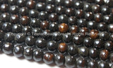 20 BEADS Tibetan Dark Black Brown Bone Beads - 6mm - Tibetan Mala Beads - Mala Making Supplies - LPB77-20