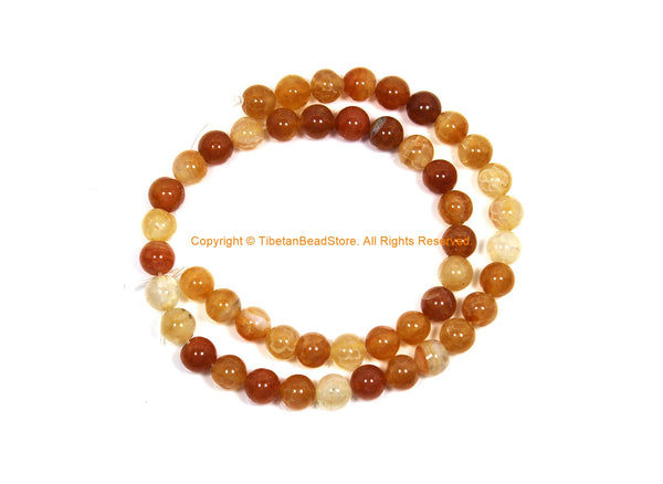 8mm Carnelian Beads - 1 STRAND - Round Carnelian Beads - 15 Inches Strand Approx 48 Beads Per Strand - Jewelry Making Bead Supplies - GM96