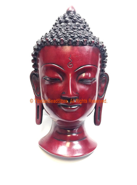 "Buddha Head - 8"" Handmade Buddha Head Wall Hanging - Buddha Mask - Meditation Supplies - HC152"