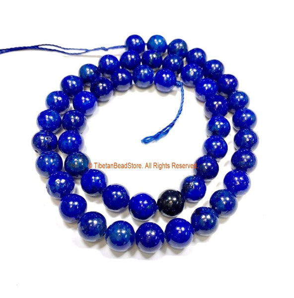 8mm Natural Lapis Lazuli Beads - 1 STRAND Round Lapis Beads - Natural Gemstone Beads - Jewelry Making Bead Supplies - GM100