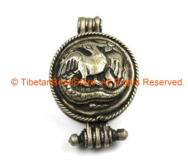 Ethnic antique look repousse nepal tibetan phoenix bird ghau prayer ethnic antique look repousse nepal tibetan phoenix bird ghau prayer box pendant ethnic jewelry aloadofball Image collections