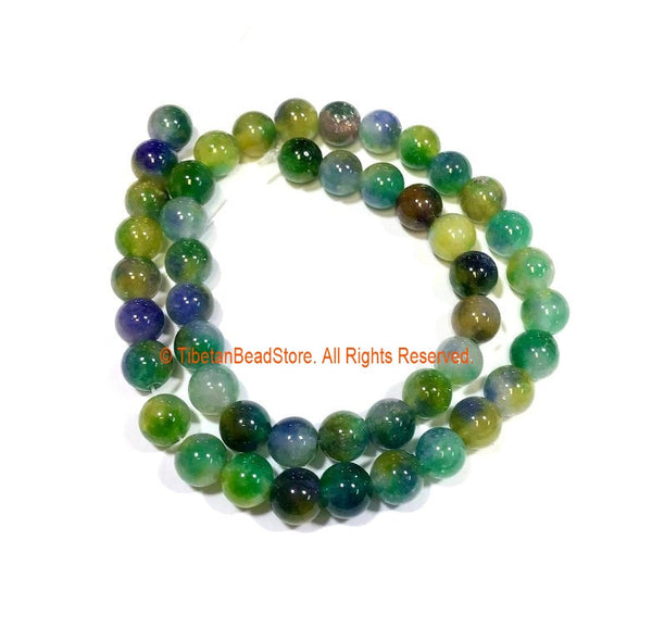 8mm Jade Round Beads - 1 STRAND Round Jade Beads - 15 Inches Approx 45 Beads Gemstone Beads Strand - Jewelry Making Bead Supplies - GM91
