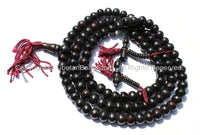 10mm Tibetan Black Bone Mala Prayer Beads with Bone Bell & Vajra Counters - 10mm - Tibetan Mala Beads - Mala Making Supplies - PB74