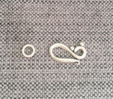 Hook Clasp Set - 1 SET Silver Finish Metal Hook and Eye Clasp Set - Jewelry Making Supplies - Findings - Clasps - F98-1