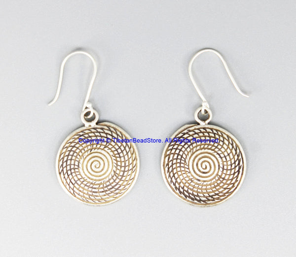Beautiful Handmade Ethnic Tribal Silver Earrings - Handmade Real Sterling Silver Jewelry - SS8046