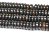 10 BEADS Tibetan Flat Disc Dark Bone Beads - 10-11mm Dark Color Bone Disc Beads- TibetanBeadStore Mala Supplies- LPB128-10 - TibetanBeadStore