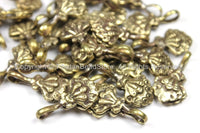 3 Counters Tibetan Antiqued Brass Flaming Jewels Bum Counter- Tibetan Mala Counters TibetanBeadStore Charms Mala Bum Counters- T141-3