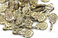 1 Counter Tibetan Antiqued Brass Flaming Jewels Mala Bum Counter- Tibetan Mala Counters- TibetanBeadStore Charms Mala Bum Counters- T139-1