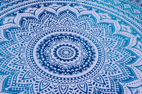 Blue Ombre Mandala - Twin / Queen