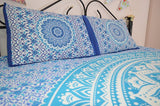 Blue Ombre Mandala With Pillow Cases - Twin / Queen