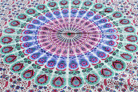 Flower Child Mandala - Twin / Queen