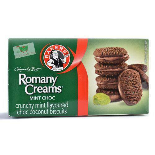 ABC Foods - Bakers Pantry Bakers, Romany Creams, Mint Choc Biscuits, 200g