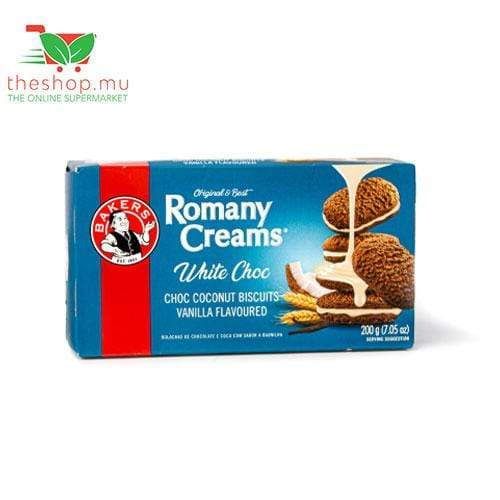 ABC Foods Pantry Bakers, Romany Creams White Choc Biscuits, 200g