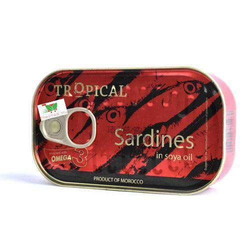 Brandactiv - Tropical Pantry Tropical, Sardines in Soya Oil, 125g
