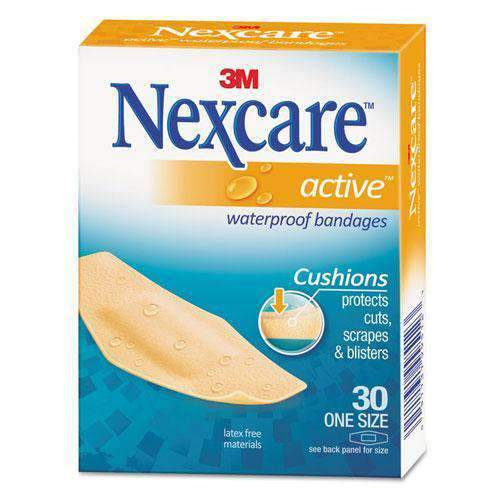 Chemtech - 3M Beauty & Personal Care 3M, Nexcare Active, Waterproof Bandages, 30 pieces