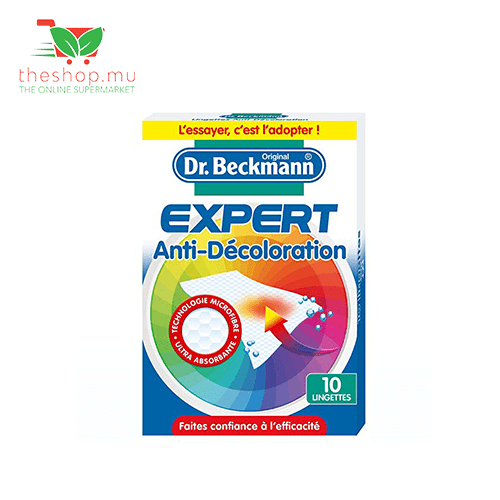 Dr Beckmann, Anti-Decoloration Microfibre, 10 Lingettes