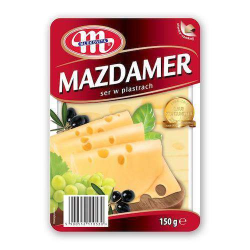 Mlekovita, Sliced Mazdamer Cheese, 150g