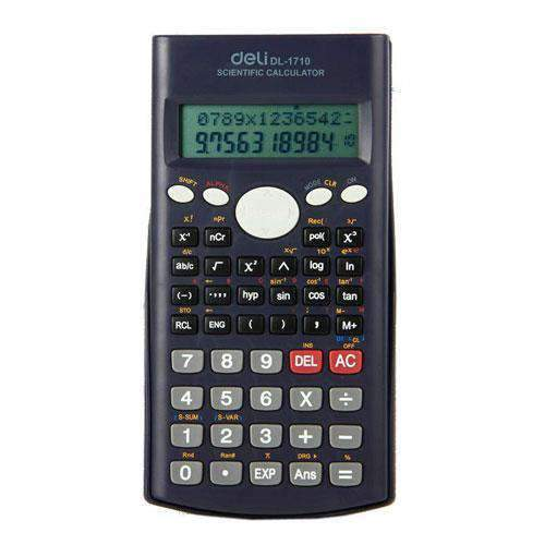 Del Office - Deli Stationery Deli, Scientific Calculator Slide-on Case, 12 Dgts