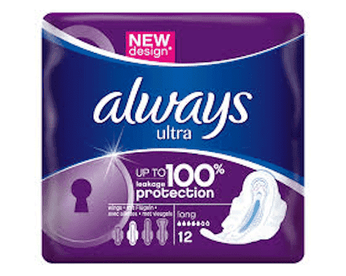 Freelance Distributors - Always Beauty & Personal Care Always, Ultra, with wings, Long, 12 pads